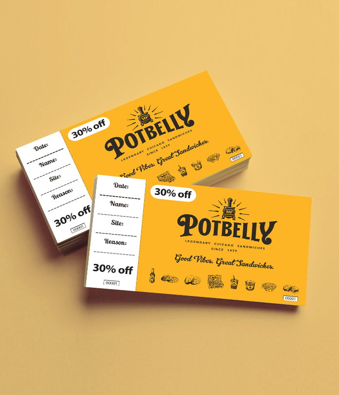 Secure Paper Gift Vouchers