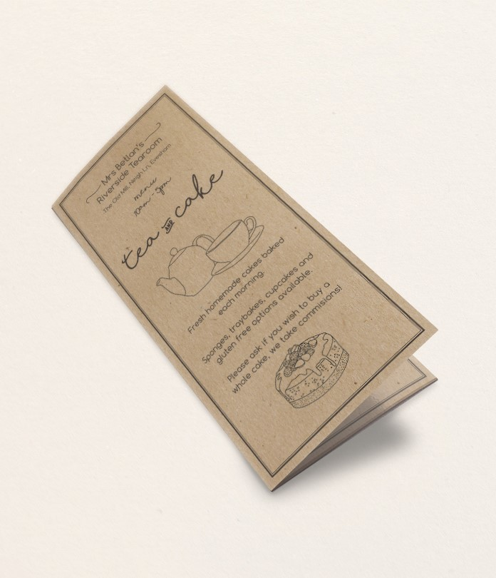 130gsm Brown Eco Kraft Folded Leaflets