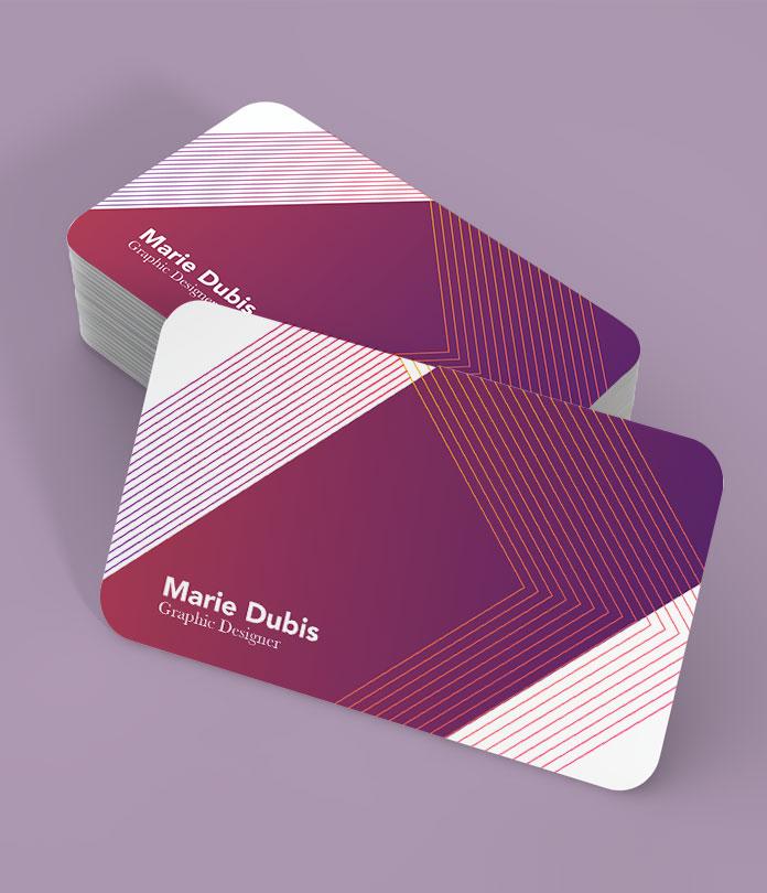 400gsm Shaped Matt Laminated Business Cards