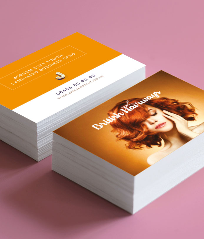 600gsm Soft Touch Laminated Business Cards